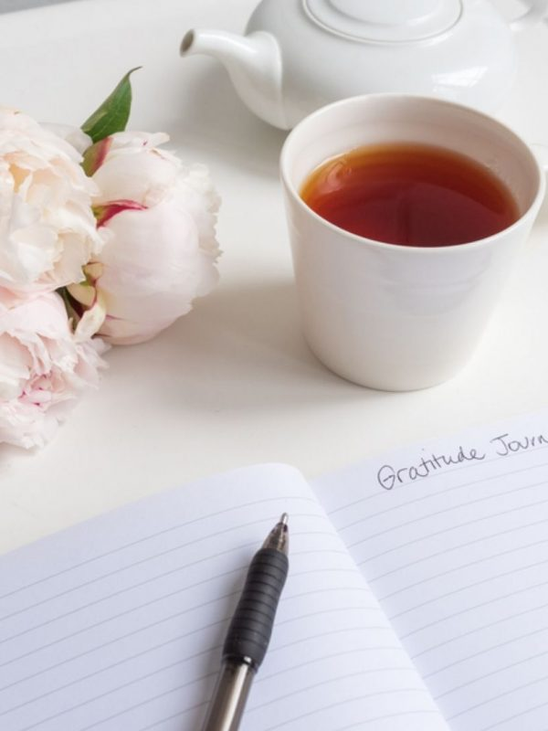 1 to 1 therapy gratitude journal and tea
